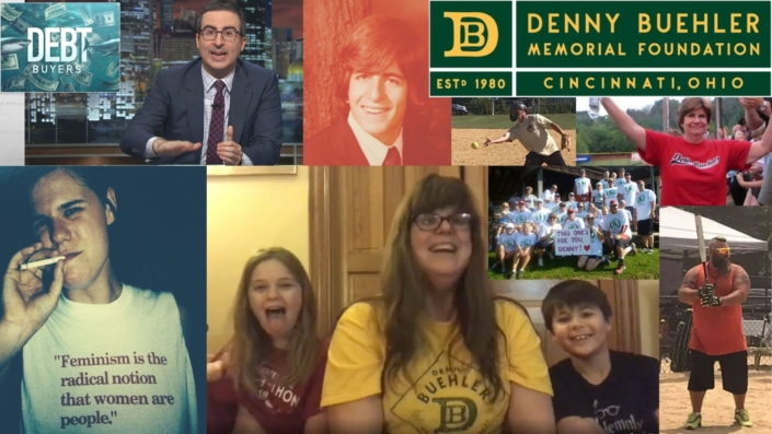 Collage of photos relating to the Denny Buehler Memorial Foundation